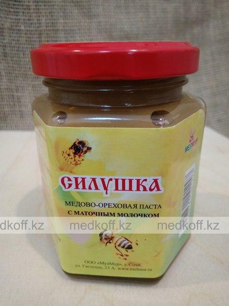 Силушка медово-ореховая паста с маточным молокочком